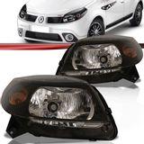 Farol-Renault-Sandero-2009-a-2011-Mascara-Negra-Foco-Simples-Lado-Direito-Passageiro