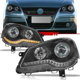 Par-Farol-Daylight-Polo-2007-2008-2009-2010-2011-2012-2013-2014-Led-Mascara-Negra