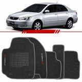Tapete-Carpete-Grafite-Corolla-2003-2004-2005-2006-2007-2008-Logo-Bordado-2-Lados-Dianteiro