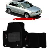 Tapete-Carpete-Preto-Audi-A3-1997-1998-1999-2000-2001-2002-2003-2004-2005-2006-Logo-Bordado-2-Lados-Dianteiro
