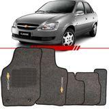 Tapete-Carpete-Grafite-Corsa-Classic-2003-2004-2005-2006-2007-2008-2009-2010-2011-2012-2013-Logo-Bordado-2-Lados-Dianteiro