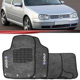 Tapete-Carpete-Grafite-Golf-1999-2000-2001-2002-2003-2004-2005-2006-Logo-Bordado-2-Lados-Dianteiro