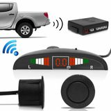 Sensor-de-Estacionamento-Wireless-4-Pontos-Preto-com-Capsula-Emborrachada-Display-Led-Sinal-Sonoro