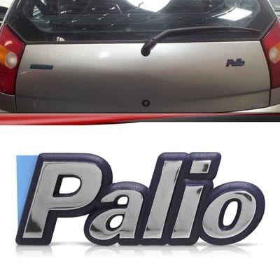 Emblema-Tampa-Porta-Malas-Palio-1996-1997-1998-1999-2000-Cromado-Fundo-Azul