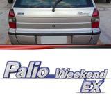 Emblema-Tampa-Porta-Malas-Palio-Weekend-Ex-1996-1997-1998-1999-2000-Cromado-Fundo-Azul