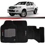 Tapete-Carpete-Personalizado-Preto-Hilux-Srv-2012-2013-2014-2015-Logo-Toyota-Bordado-2-Lados-Dianteiro-Cabine-Dupla