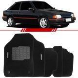Tapete-Carpete-Preto-Escort-Hobby-1993-1994-1995-1996-Logo-Bordado-2-Lados-Dianteiro