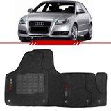 Tapete-Carpete-Grafite-Audi-A3-Sportback-2007-2008-2009-2010-2011-2012-2013-2014-Logo-Bordado-2-Lados-Dianteiro