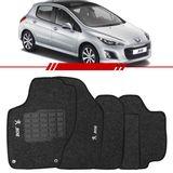 Tapete-Carpete-Grafite-Peugeot-308-2010-2011-2012-2013-2014-Logo-Bordado-2-Lados-Dianteiro
