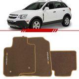 Tapete-Carpete-Bege-Captiva-2008-2009-2010-2011-2012-2013-2014-Logo-Chevrolet-Bordado-2-Lados-Dianteiro