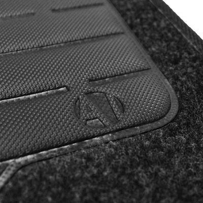 Tapete-Carpete-Grafite-Peugeot-206-2010-Logo-Bordado-2-Lados-Dianteiro