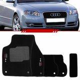Tapete-Carpete-Preto-Audi-A4-2005-2006-2007-2008-Logo-Bordado-2-Lados-Dianteiro