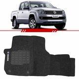 Tapete-Carpete-Personalizado-Grafite-Amarok-2010-2011-2012-2013-2014-Logo-Volkswagen-Bordado-2-Lados-Dianteiro