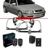 Combo-Gol-Special-2001-2002-2003-2004-2005-Kit-Vidro-Eletrico-Dianteiro-Sensorizado-2-Portas---Alarme-Positron-Cyber-Fx-330
