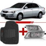 Combo-Corolla-2005-2006-2007-2008-Kit-Farol-de-Milha---Tapete-Carpete-Grafite-Personalizado-Logo-Bordado-2-Lados-Dianteiro