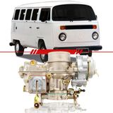 Carburador-Kombi-1991-1992-1993-1994-1995-1996-Motor-1600-Dupla-Carburacao-a-Alcool-Completo-Lado-Esquerdo