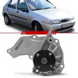 Bomba-D-Agua-sem-Polia-Simples-Fiesta-Courier-1996-1997-1998-1999-2000-Motor-Zetec-1.4-16v-sem-Ar-Condicionado-e-sem-Direcao-Hidraulica