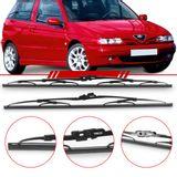 Par-de-Palhetas-Steel-Standard-Dianteira-Alfa-Romeo-145-166-1994-1995-1996-1997-1998-1999-2000-Limpador-de-Parabrisa-Modelo-Rodo-19-e-21-Polegadas