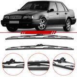 Par-de-Palhetas-Standard-Dianteira-Volvo-460-1990-1991-1992-1993-1994-1995-1996-850-960-C70-S70-Limpador-de-Parabrisa-Modelo-Rodo-21-Polegadas