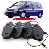 Jogo-Pastilha-de-Freio-Dianteira-Peugeot-806-1994-1995-1996-1997-1998-1999-2000-2001-2002-Sistema-Berling
