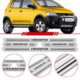 Jogo-Soleira-Resinada-de-Porta-Volkswagen-Personalizada-Crossfox-2005-2006-2007-2008-2009-2010-4-Pecas-Estreita-Aco-Escovado