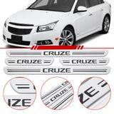 Jogo-Soleira-Resinada-de-Porta-Chevrolet-Personalizada-Cruze-2012-2013-2014-2015-2016-4-Pecas-Larga-Aco-Escovado