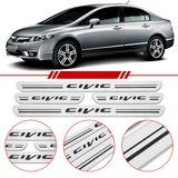 Jogo-Soleira-Resinada-de-Porta-Honda-Personalizada-Fit-2009-2010-2011-2012-4-Pecas-Estreita-Aco-Escovado