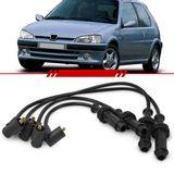 Jogo-Cabo-de-Vela-Ignicao-Supressivo-Preto-Peugeot-106-1.0-8v-1993-1994-1995-1996-1997-1998-1999-2000-2001