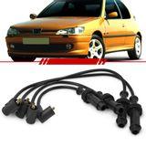 Jogo-Cabo-de-Vela-Ignicao-Supressivo-Preto-Peugeot-306-Xs-1.6i-8v-1994-1995-1996-1997-1998-1999-2000-2001-2002-2003-2004-2005-2006