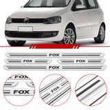 Jogo-Soleira-Resinada-de-Porta-Volkswagen-Personalizada-Fox-2010-2011-2012-2013-2014-4-Pecas-Estreita-Aco-Escovado