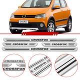 Jogo-Soleira-Resinada-de-Porta-Volkswagen-Personalizada-Crossfox-2011-2012-2013-2014-4-Pecas-Estreita-Aco-Escovado