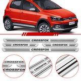 Jogo-Soleira-Resinada-de-Porta-Volkswagen-Personalizada-Crossfox-2015-2016-4-Pecas-Estreita-Aco-Escovado