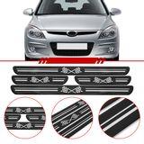 Jogo-Soleira-Resinada-de-Porta-Universal-Hyundai-4-Pecas-Larga-Preta-com-Bandeira-Quadriculada