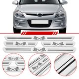 Jogo-Soleira-Resinada-de-Porta-Universal-Hyundai-4-Pecas-Larga-Aco-Escovado-com-Bandeira-Quadriculada