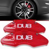 Par-Capa-Para-Pinca-de-Freio-Vermelha-Universal-Audi-Sistema-Encaixe