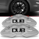 Par-Capa-Para-Pinca-de-Freio-Prata-Universal-Audi-Sistema-Encaixe