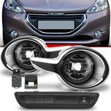 Kit-Farol-de-Milha-Auxiliar-Peugeot-208-2013-2014-2015-2016-com-Aro-Cromado-Botao-Modelo-Original