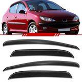 Jogo-Calha-de-Chuva-Peugeot-206-1998-1999-2000-2001-2002-2003-2004-2005-2006-2007-2008-2009-2010-207-Defletor-4-Portas