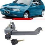 Macaneta-Externa-da-Porta-Dianteira-Cinza-Gol-1995-1996-1997-1998-1999-Parati-2-Portas-com-Chave-Lado-Esquerdo-Motorista
