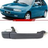 Macaneta-Externa-da-Porta-Dianteira-Gol-1995-1996-1997-1998-1999-Parati-2-Portas-Preta-sem-Chave-Lado-Direito-Passageiro