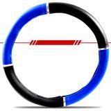 Capa-Para-Volante-380mm-Preta-e-Azul-com-Anel-Cromado