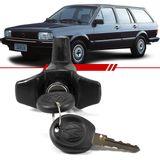 Macaneta-Externa-Tampa-do-Porta-Malas-Quantum-1985-1986-1987-1988-1989-1990-1991-4-Portas-Mecanica-Preta-com-Chave