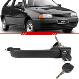 Macaneta-Externa-Porta-Dianteira-Gol-1995-1996-1997-1998-1999-Parati-2-Portas-Mecanica-Preta-com-Chave