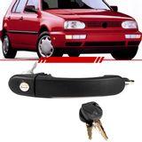 Macaneta-Externa-Porta-Dianteira-Gol-Parati-1999-2000-2001-2002-2003-2004-2005-4-Portas-Saveiro-Mecanica-Preta-com-Chave
