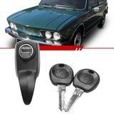 Macaneta-Externa-Tampa-do-Motor-Brasilia-1973-1974-1975-1976-1977-1978-1979-1980-1981-1982-Tl-Variant-2-Portas-Preto-Fosco-com-Chave