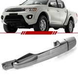Macaneta-Externa-Porta-Traseira-Mitsubishi-L200-Triton-2008-2009-2010-2011-2012-2013-2014-2015-2016-4-Portas-Cromada-sem-Furo-sem-Chave