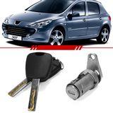 Cilindro-Porta-Dianteira-Lado-Esquerdo-Peugeot-307-2002-2003-2004-2005-2006-2007-2008-2009-2010-2011-Sedan-Sw-com-Chave-4-Portas