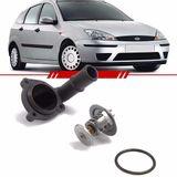 Valvula-Termostatica-com-Flange-Courier-Ecosport-Fiesta-Focus-Motor-Zetec-Rocam-A-Gasolina