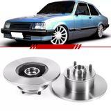Par-Disco-de-Freio-Dianteiro-Solido-Chevette-1980-1981-1982-1983-1984-1985-1986-1987-1988-1989-1990-1991-1992-1993-Chevy-500-Marajo-com-Cubo