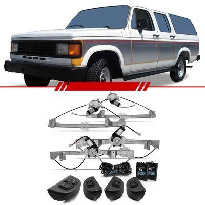 Kit-Vidro-Eletrico-Sensorizado-Chevrolet-D20-1991-1992-1993-1994-1995-1996-Veraneio-4-Portas-Completo